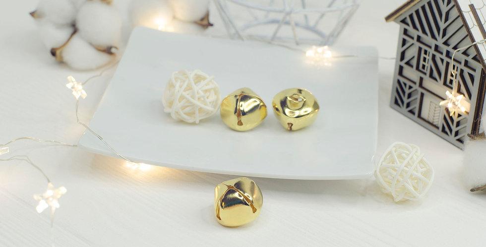 Колокольчики звонкие 2,5см золото