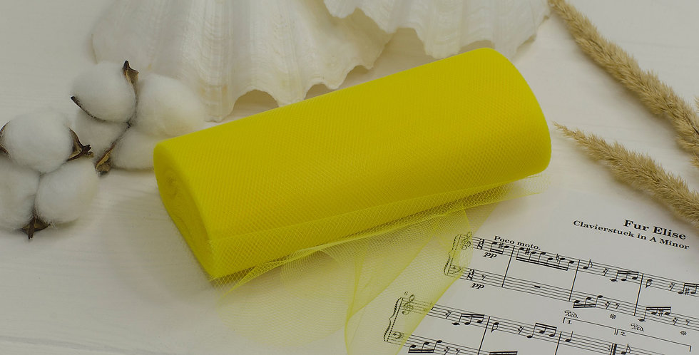 Фатин жесткий 15см желтый