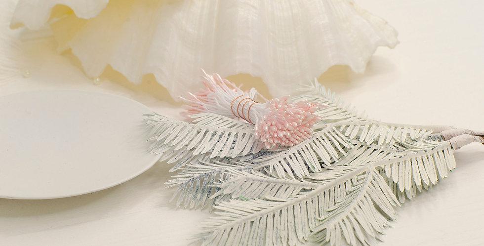 Тычинки глянец пучок 1мм длинные , светло розовые