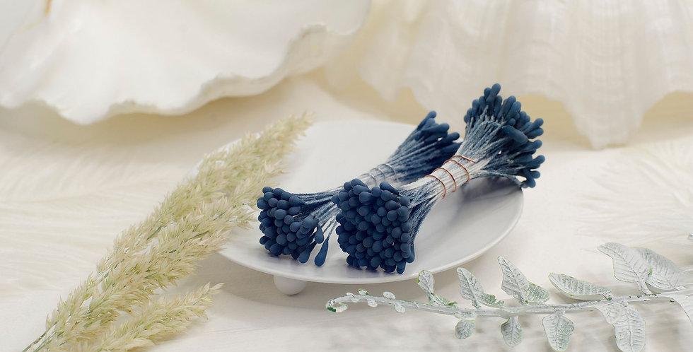 Тычинки матовые пучок 1мм , синие