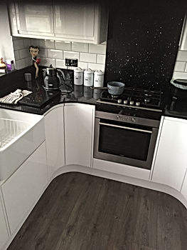 new kitchen and quartz worktops fitted.J