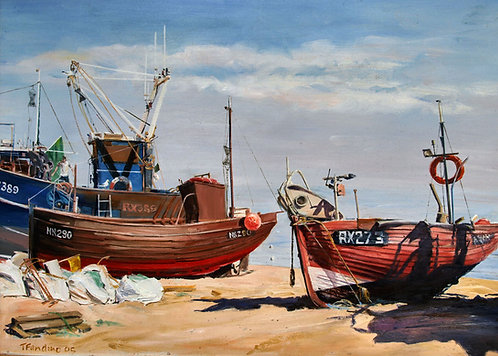 BEACHED FISHING FLEET, TONY FANDINO FRSA