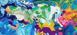 Summer Place acrylic 24x24 by Carol Carp