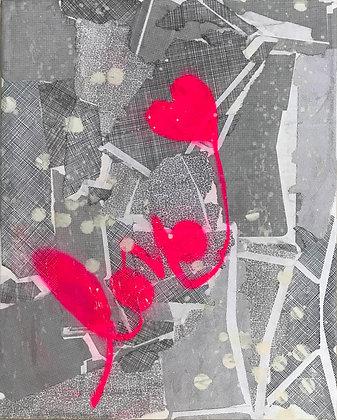 TINA PSOINOS Love pink on Gray, 2018