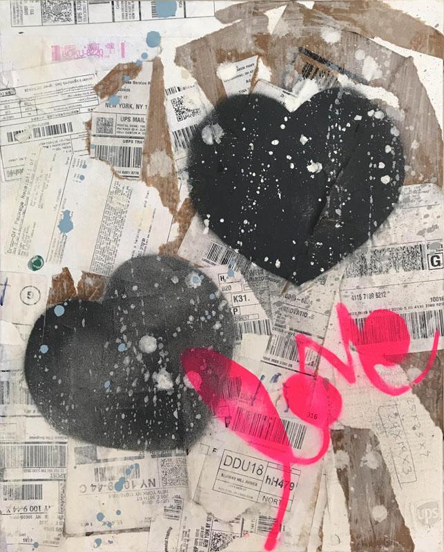 'LOVE PINK BLACK ON WHITE BROWN'