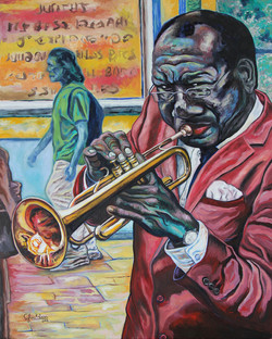 TRUMPET PLAYER FROM NEW ORLEANS (24x30).