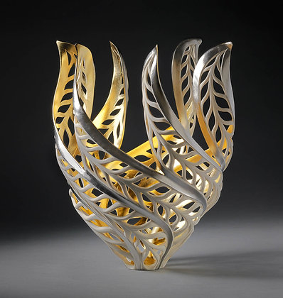 SOLD JENNIFER MCCURDY Gilded Butterfly Magritte's Vessel, 2019