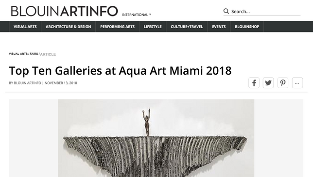 Steidel Contemporary voted in the top 10 galleries to see at Aqua Art Miami
