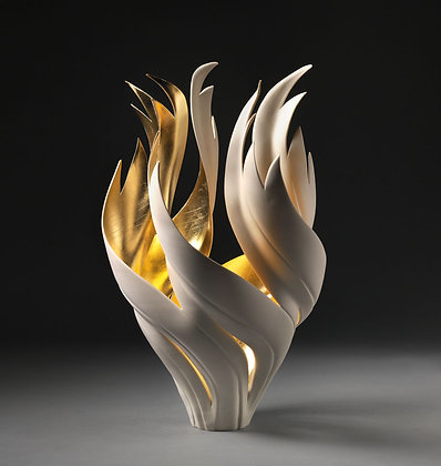 SOLD JENNIFER MCCURDY Gilded Fire Vessel, 2019
