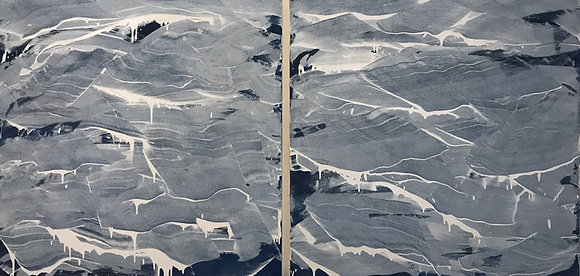 DEBRA VAN TUINEN Waves in Blue and White, 2017