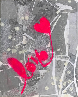 'LOVE PINK ON GRAY' (2017)