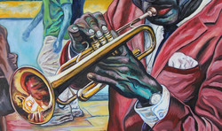 TRUMPET PLAYER FROM NEW ORLEANS (24x30)_
