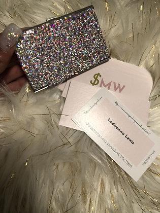 Crystal Covered Business Card Holder