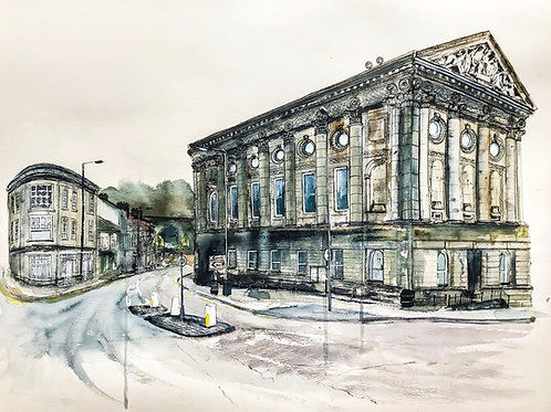 'Todmorden Town Hall' Limited Edition A3 Print