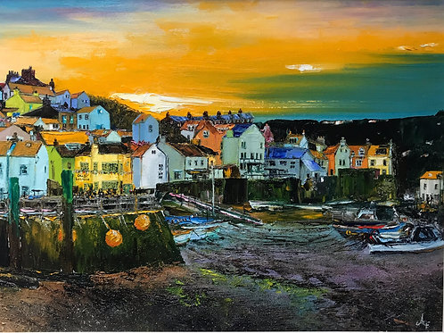 Staithes 'Low Tide' Limited Edition A3 Print
