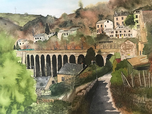 'Lineholme Viaduct' Limited Edition A3 Print