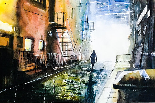 'Manchester Cobbles' Limited Edition A3 Print