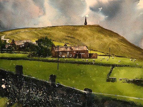 Erringdon 'Pike on the Hill' Limited Edition A3 Print
