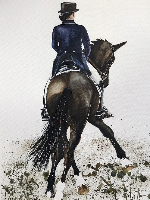 'Dressage' Limited Edition A3 Print