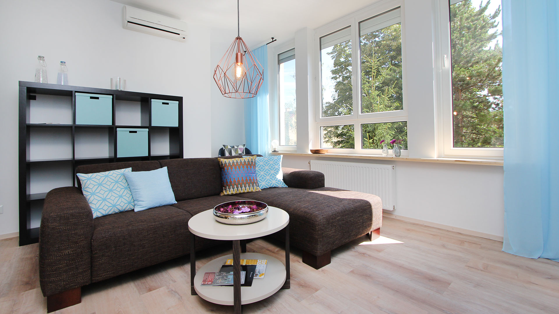 Slaapbank in woonkamer