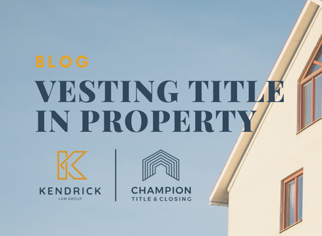 Vesting Title in Property