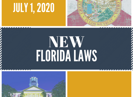 Florida Laws Effective July 1, 2020