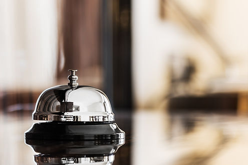 Hotel Concierge. service bell in a hotel