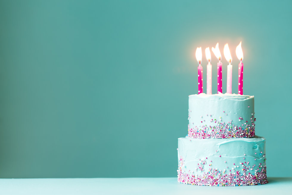 Tiered birthday cake with pink candles and sprinkles.jpg
