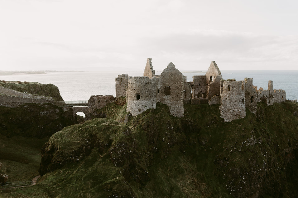 The ruins of the Dunluce Castle on the C