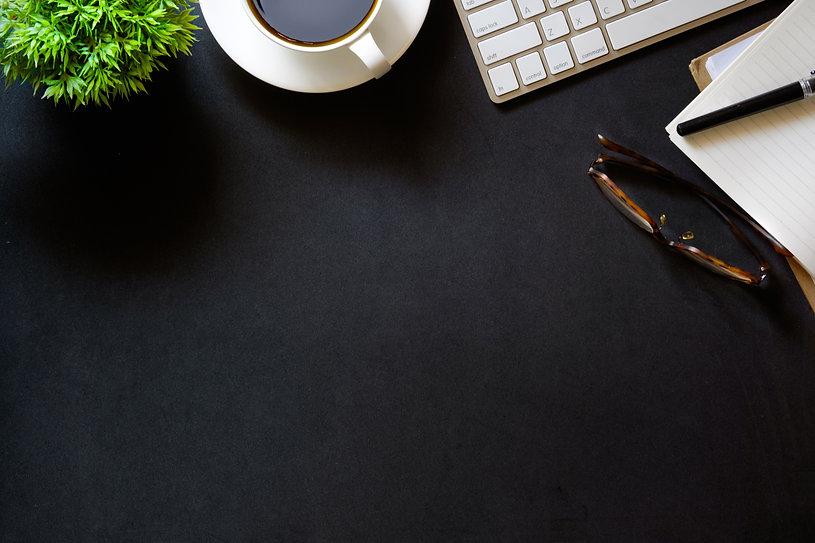 Modern dark surface office desk table wi