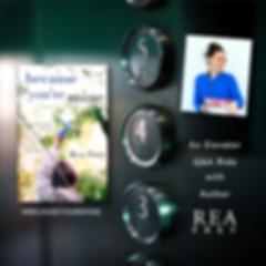 elevator ride Rea Frey BLUE CROPPED CLOS