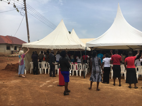 Jinja Church under the tents