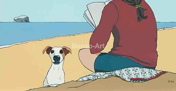 Poetry and Jack Russell (print)