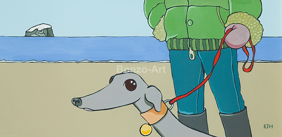 Greyhound Girl - SOLD