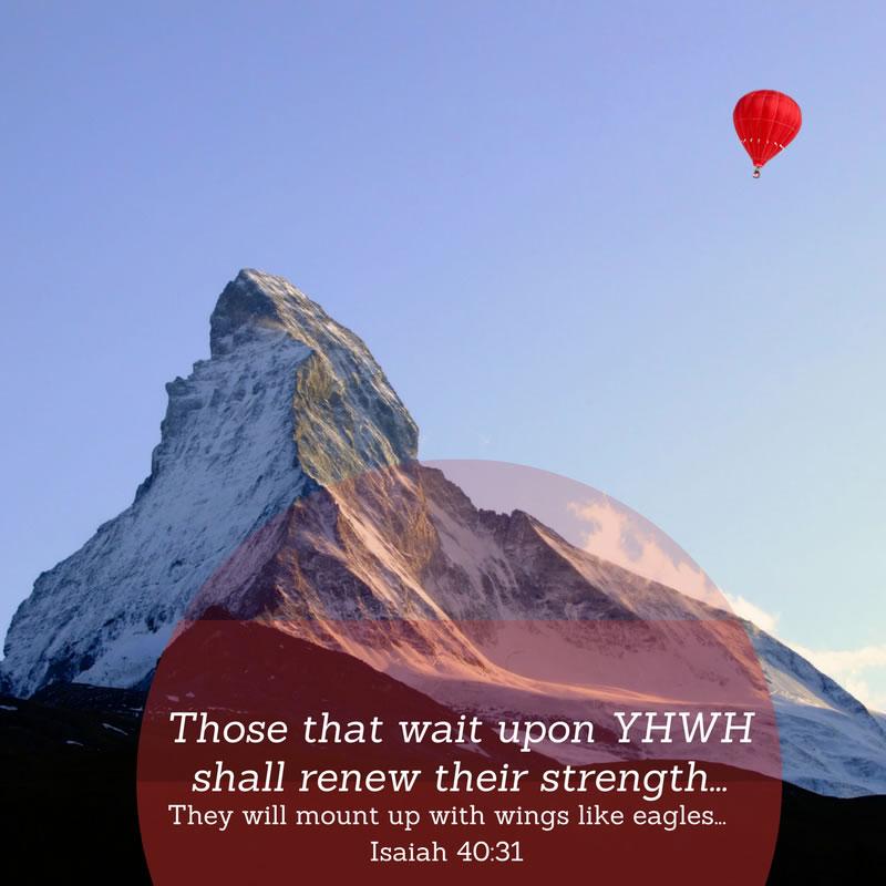 Isaiah 40:31 - Balloon by Kropsoq