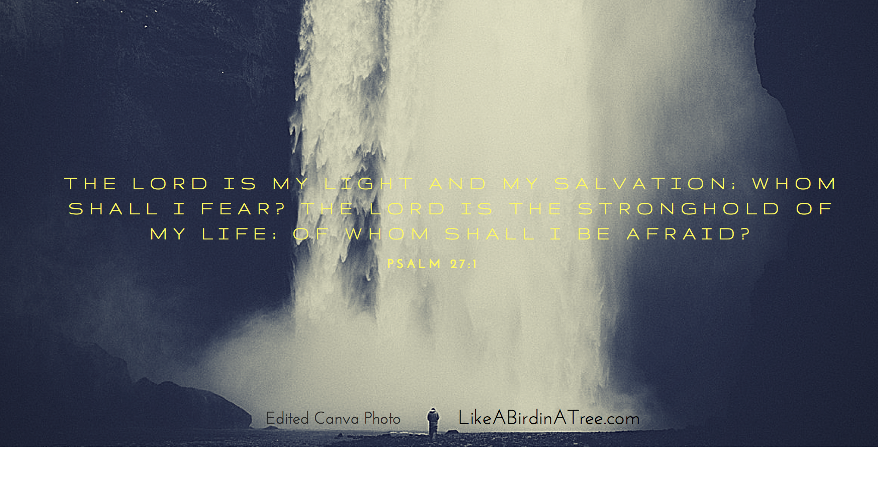 The LORD is my light and my salvation; whom shall I fear- The LORD is the stronghold of my life; of