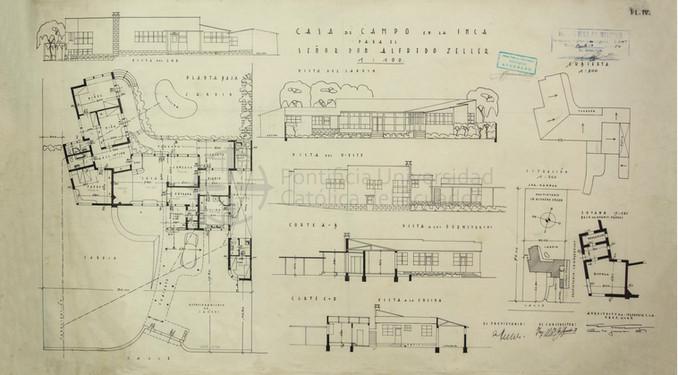 RESIDENCIA PARA ALFREDO ZELLER - QUITO, 1954