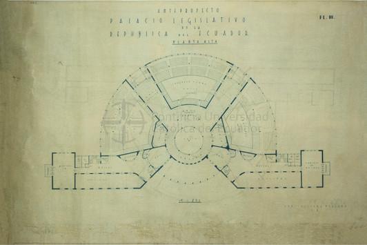 PROPUESTA PARA EL PALACIO LEGISLATIVO - QUITO, 1956