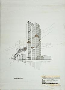 PROPUESTA PARA EL EDIFICIO DE LA DIRECCION AVIACION CIVIL, 1973, QUITO