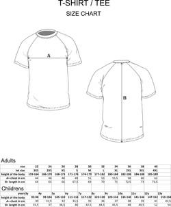 Mesh T-Shirt Size Chart