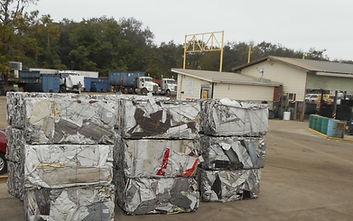 Scrap metal, baled aluminum