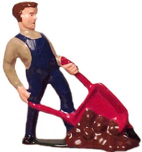 #123 - Man Dumping Wheelbarrow