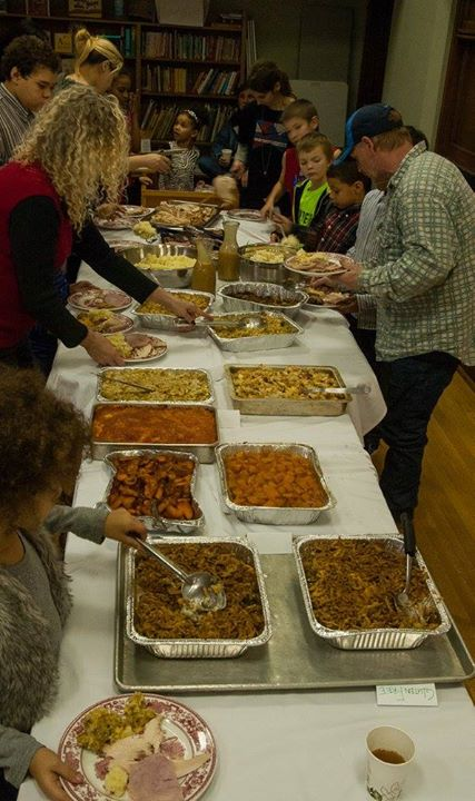Christmas party feast