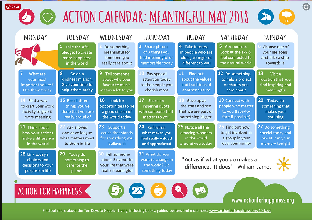 MEANINGFUL MAY 2018