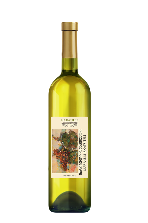 Maranuli, Rkatsiteli, dry, white wine, crisp, Georgian white, Georgia, Kakheti, dry Georgian white wine, red stem
