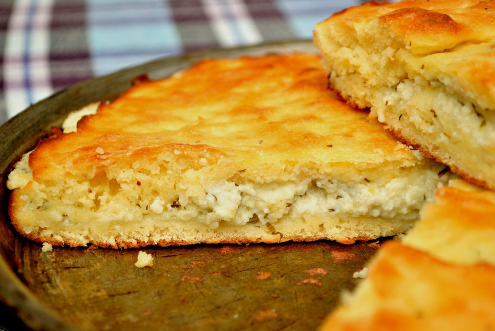 Placinta with cheese moldovan and romanian dish