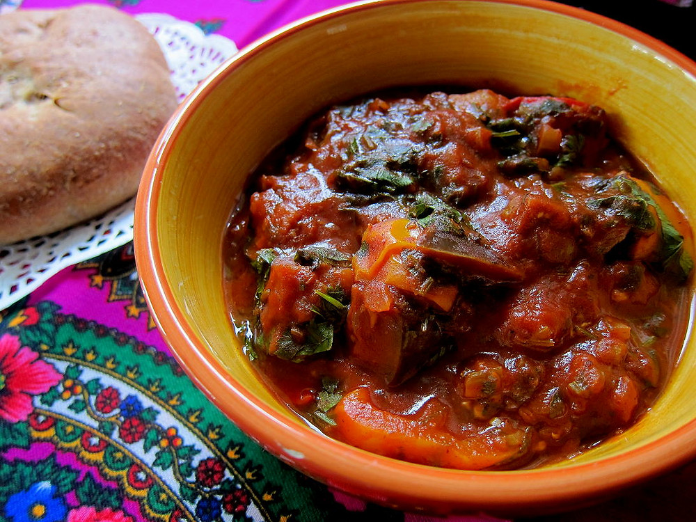 Ajapsandali, Georgian food, georegian dish