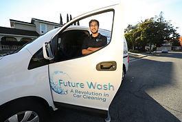 Future Wash provides a subscirption based car wash delivered directly to your home. No more waiting at the car wash and wondering when you're car will be done. We bring the car wash experiene to you!