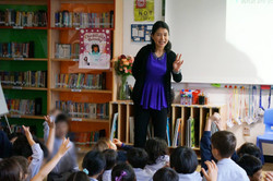 Libby conducted school visits