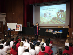 Libby conducted school workshops